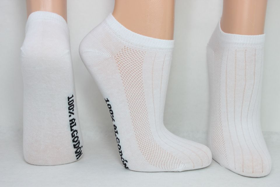 muy agradable nuevos productos para materiales de alta calidad Calcetín tobillero fino Calcetín tobillero blanco liso 100 ...